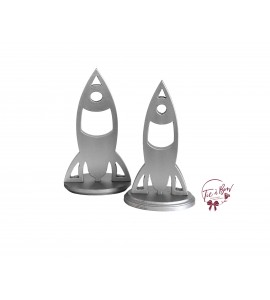 Rocket Ship Keyhole Silhouettes Small and Medium - Set of 2