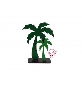 Duo Palm Tree in Silhouette