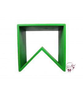 Green: Kelly Green Angled Stool