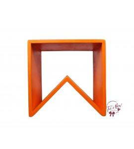 Orange: Orange Angled Stool
