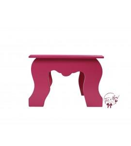Pink: Dark Pink Colonial Stool
