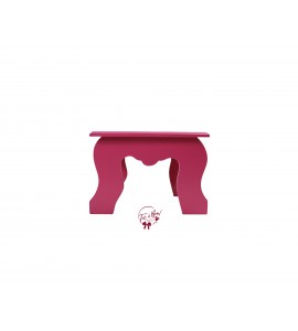 Pink: Dark Pink Colonial Stool