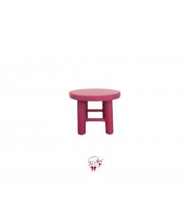 Pink: Dark Pink Round Stool