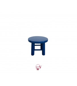 Blue: Royal Blue Round Stool