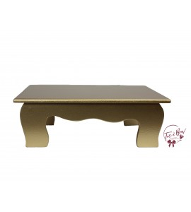 Gold: Gold Scalloped Stool