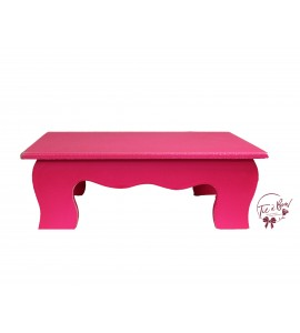 Pink: Neon Pink Scalloped Stool