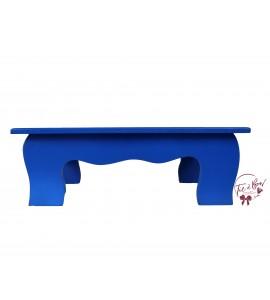 Blue: Royal Blue Scalloped Stool