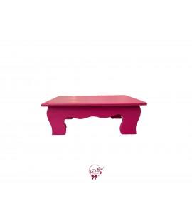 Pink: Fuchsia Scalloped Stool