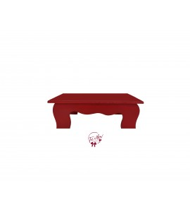Red: Red Scalloped Stool