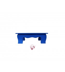 Blue: Royal Blue Scalloped Stool