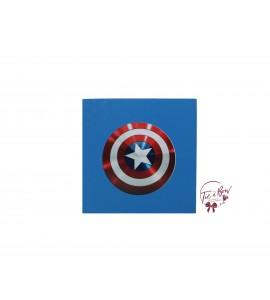 Superhero Riser: 6 Inches Blue Capitan American