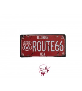 Sign: Rustic IL Route 66 License Plate
