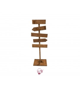 Sign Post with 5 Customizable Signs