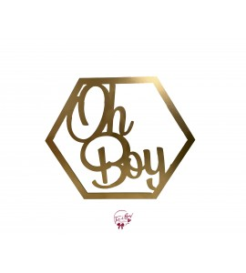Sign: Oh Boy (Gold)