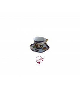 Tea Cup: Navy Blue Mini Butterfly Tea Cup