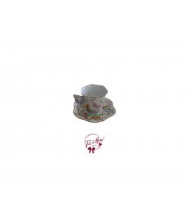 Tea Cup: Pastel Colors Mini Butterfly Tea Cup