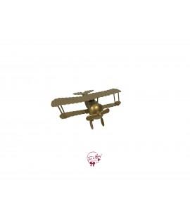 Airplane: Mini Gold Airplane