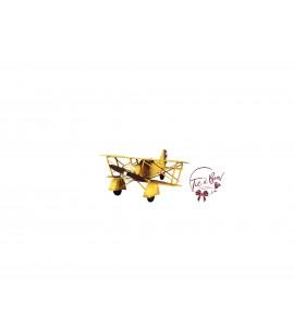 Airplane: Vintage Yellow Military Airplane