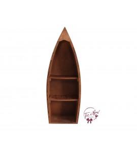 Boat: Wood Large Rustic Boat
