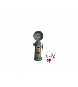 Gas Pump: Metal Ocean Green Gas Pump