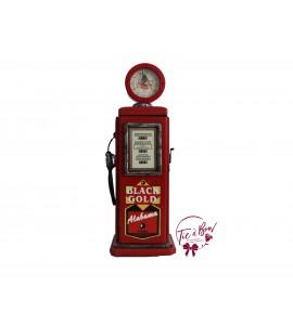 Gas Pump: Wooden Red Gas Pump