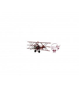 Airplane: Vintage Red Military Airplane