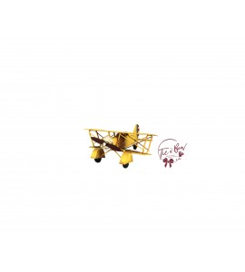 Airplane: Vintage Yellow Military Airplane