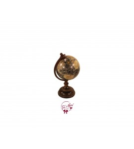World Globe: Small Vintage Look World Globe