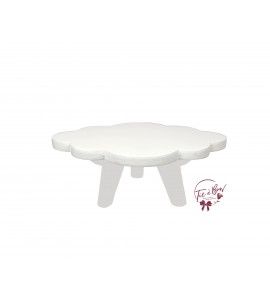 White: 3 Footed White Cloud Tray