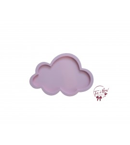 Cloud: 13.75 Inches Wide Baby Pink Cloud Silhouette