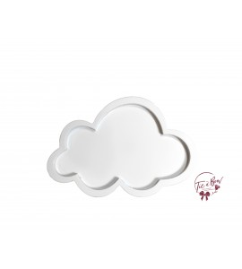 Cloud: 13.75 Inches Wide White Cloud Silhouette