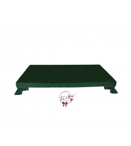 Green: Forest Green Rectangular Footed Tray