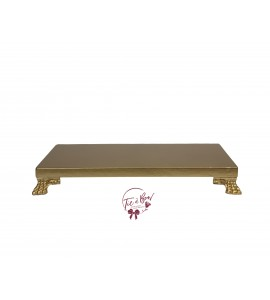 Gold: Gold Rectangular Footed Tray