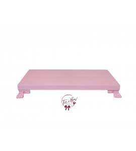 Pink: Baby Pink Rectangular Footed Tray