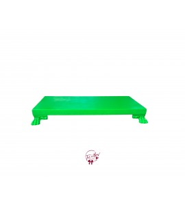 Green: Neon Green Rectangular Footed Tray