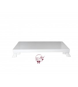 White: White Rectangular Footed Tray