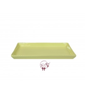 Yellow: Light Yellow 11.5 Inches Wide Rectangular Ceramic Scalloped Tray