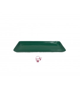 Green: Kelly 12.25 Inches Wide Rectangular Ceramic Tray