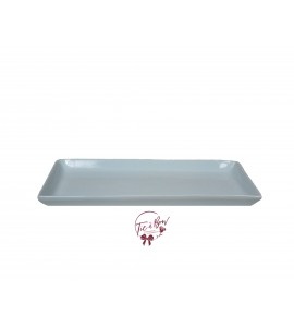 Blue: Light Blue 12.25 Inches Wide Rectangular Ceramic Tray