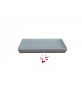 Blue: Light Blue 9 Inches Rectangular Ceramic Tray