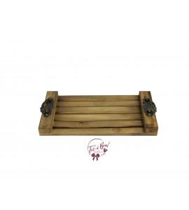 Wood: Wood Strips Rustic Tray