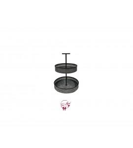 Galvanized: 2 Tier Galvanized Trays
