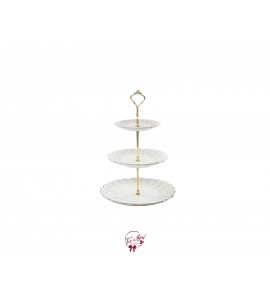 Tray: 3 Tier Scallop Shaped Trays