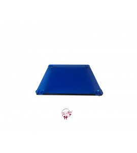 Blue: Blue Glass Square Footed Tray