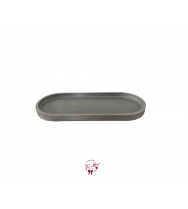 Concrete Oval Tray