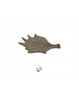 Beige: Earthy Leaf Shaped Tray