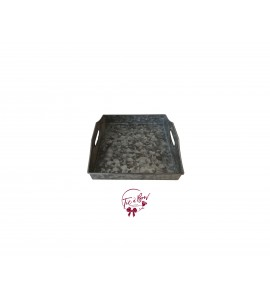 Galvanized Tray: Galvanized Square Tray with Handles