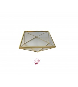 Gold: Gold Tray with Geometric Base