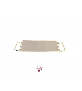 Gold: Gold and Mirror Rectangular Tray