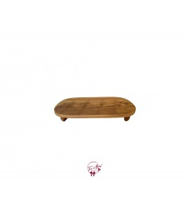 Wood: Oval Light Wood Footed Tray